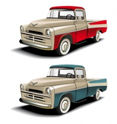 50s pickup vector image