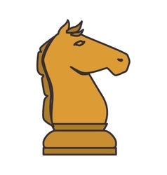 Chess game piece icon vector