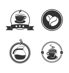 coffee emblem vector image vector image
