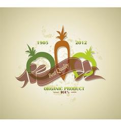 organic farm food label vector image vector image