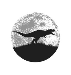 silhouette of the tyrannosaur vector image vector image