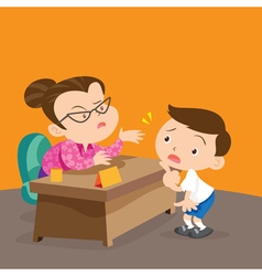 teacher and student vector image