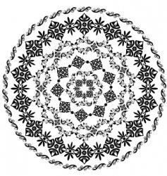 abstract circular pattern of arabesques vector image vector image