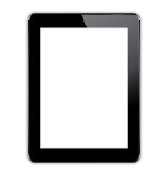 black computer tablet vector image