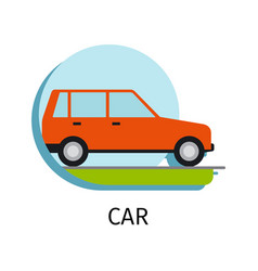car transport in flat style vector image vector image