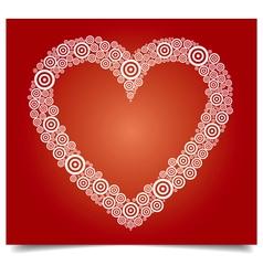 heart white circle vector image vector image