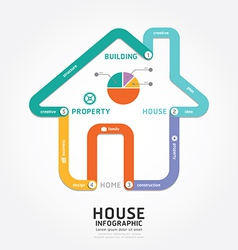 infographics building house design diagram line vector image vector image