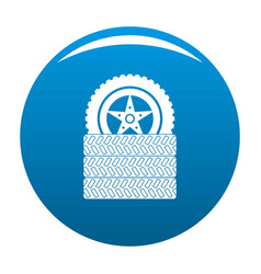 tire leap icon blue vector image