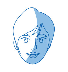 Woman face portrait beautiful spa model girl vector