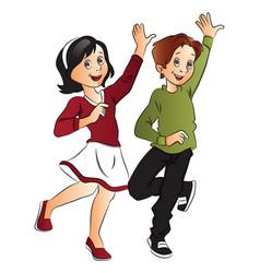 couple dancing vector image