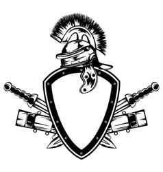 frame with legionary helmet vector image