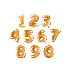 golden number set balloon vector image vector image