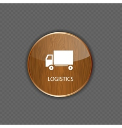 Logistics wood application icons vector image vector image