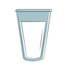 milk in glass icon image vector image vector image
