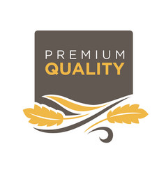 premium quality grain logo with ears of wheat vector image vector image