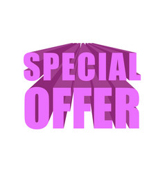 Special offer template lettering symbol business vector
