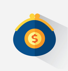A purse with money vector