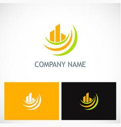 abstract building loop company logo vector image