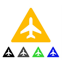 airplane problem flat icon vector image