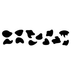 Amorphous blob shapes black amoeba asymmetric vector