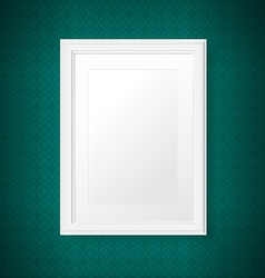 Antique white frame on the vintage wall vector