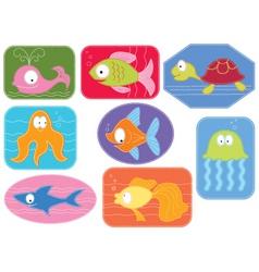 applique fish vector image