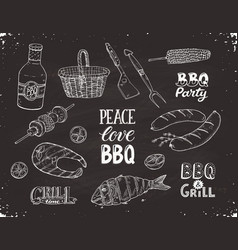 Bbq sketches vector