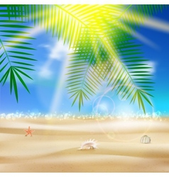 Beautiful seaside view poster vector image