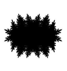 Black forest kaleidoscope frame vector