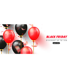 black friday sale promotional banner with vector image
