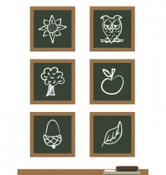 Blackboard icons vector