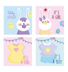 Boy or girl gender reveal baby shower cute vector