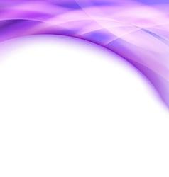 Bright purple line glow swoosh border folder vector image