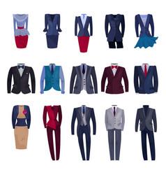 Business suit businessman or businesswoman vector
