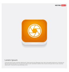 Camera lens icon orange abstract web button vector