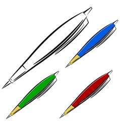 Cartoon pen eps10 vector image
