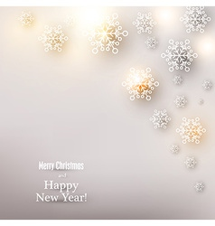 Christmas background with glowing snowflakes vector image