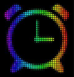 colored dot alarm clock icon vector image