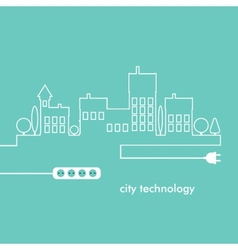 Concept electric circuit city flat design vector