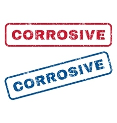 Corrosive Rubber Stamps vector