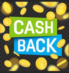 Creative of cash back vector