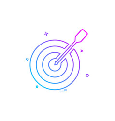 dart game icon design vector image