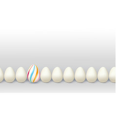 different way for leader decorated egg stay in vector image