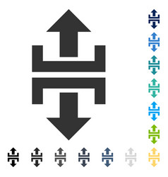 Divide vertical direction icon vector