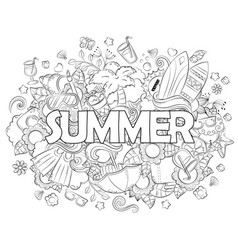 Doodle hand drawn background vector