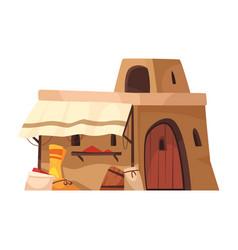 Eastern house icon vector
