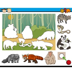 Educational preschool task cartoon vector