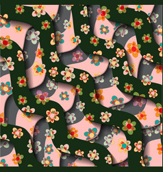 Flowernice peach blossom isolated japanese floral vector