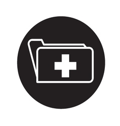 Folder with cross icon vector