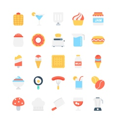 Food Colored Icons 6 vector